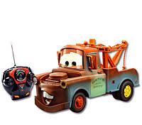 Детская Игрушка Машинка для мальчиков Мэтр Тачки на радиоуправлении, звук и свет, 19 см, Cars Mater Dickie