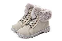Жіночі черевики Collection Paris winter 38 light Grey SKL35-238426