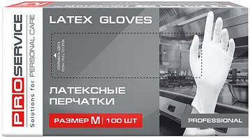 Рукавиці латексні PRO service Professional M 100шт. білі
