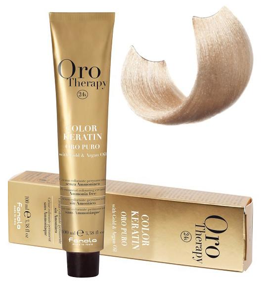 Безаммиачная крем-краска для волос Fanola Oro Therapy  Extra №10/3 Blond platinum golden extra 100 мл