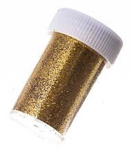 Блестки для ногтей в баночке золотые №2 А285-2
