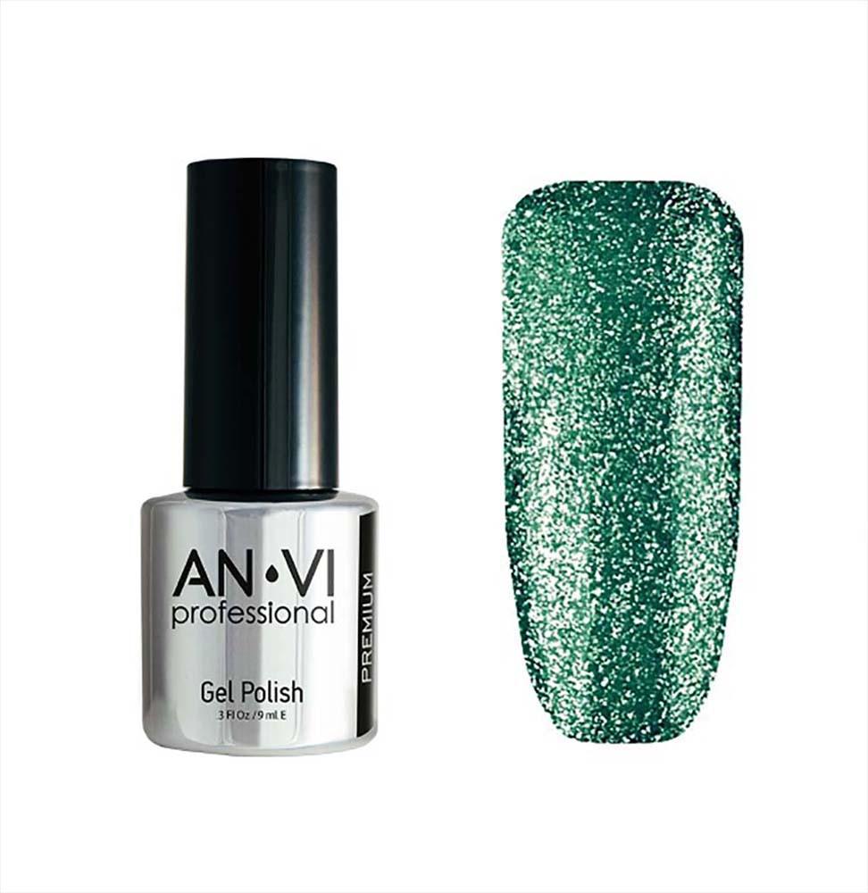 Гель-лак для ногтей ANVI Professional №008 Green Funk 9 мл