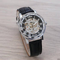 Часы Winner 8012 Diamonds Automatic Black-Silver SKL39-225950