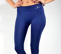 Лосины спортивные женские цвет Синий. Леггинсы женские спорт синие.