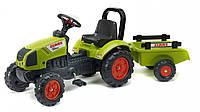 Детский трактор на педалях с прицепом Falk 2040AB CLAAS ARION