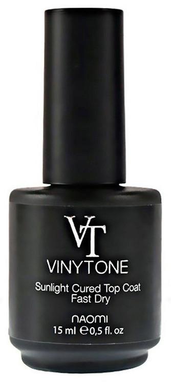 Закрепитель для лака Naomi Vinytone Sunlight Cured Top Coat 15 мл