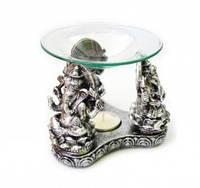 9120279 Аромалампа Три Ганеши полистоун со стеклянной чашей