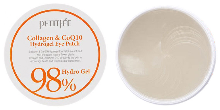Патчи гидрогелевые под глаза Petitfee Collagen & Co Q10 60 шт