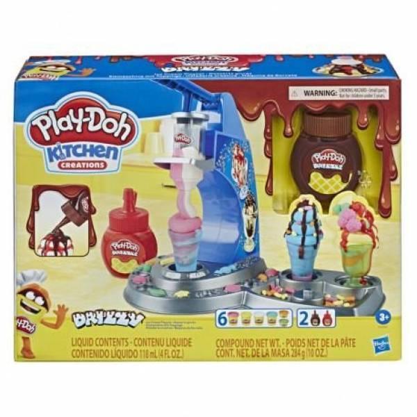Play-Doh Kitchen Мороженное с глазурью E6688 Creations Drizzy Ice Cream Playset