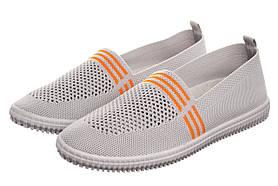 Жіночі сліпони G8123-5 WS 37 Grey-Orange SKL35-238591