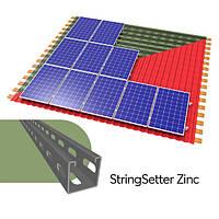 StringSetter Zinc B15 комплект оцинкованного креплений 15 PV модулей для битумной черепицы
