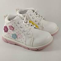 Черевики дитячі Clibee P89 для дівчинки біло-рожеві
