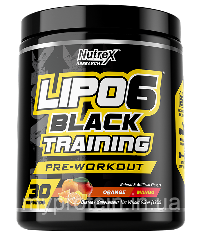 Nutrex	Предтренировочники, NO	Lipo 6 Black Training Pre-Workout	204 g