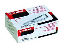 Скріпки Norma, 28 мм, 100штук, трикутні