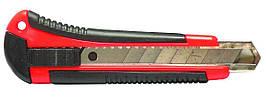 Ніж трафаретний 4Office, 4-348, ширина 18мм, автофіксатор, металеві направляючі, прорезинені