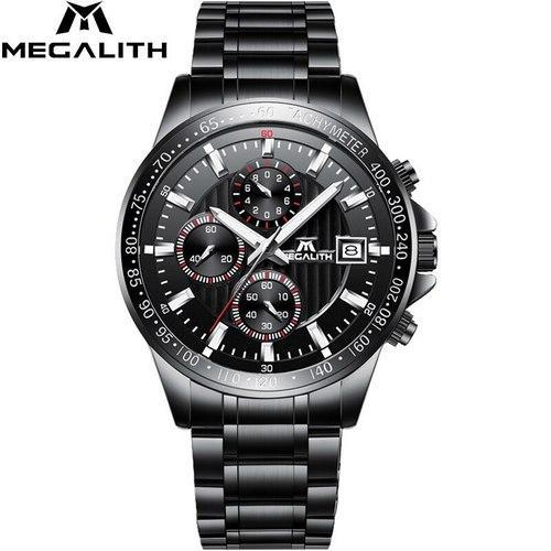 Часы наручные Megalith 0037M Silver-Gold-Black