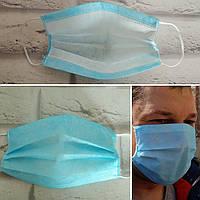 Защитная маска одноразовя треохслайная не медецинская плотная