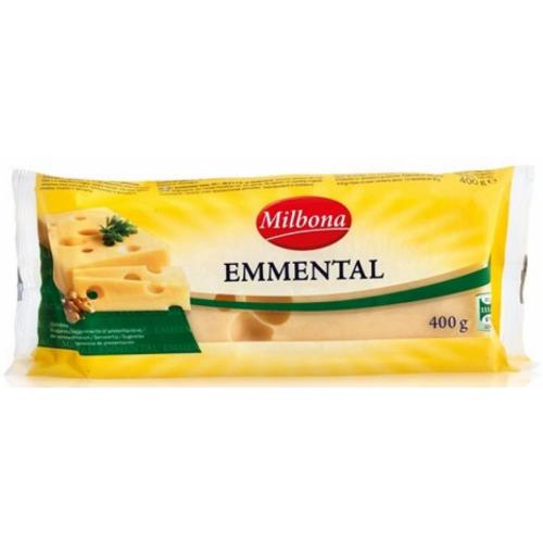 Сир твердий Emmental Milbona 400 г (Німеччина)
