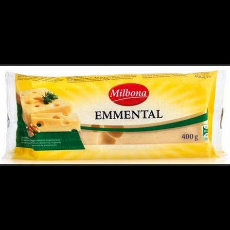 Сир твердий Emmental Milbona 400 г (Німеччина), фото 2