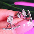 Джекеты серебряные серьги - Серебряные серьги Каффы - Серьги трансформеры, фото 5