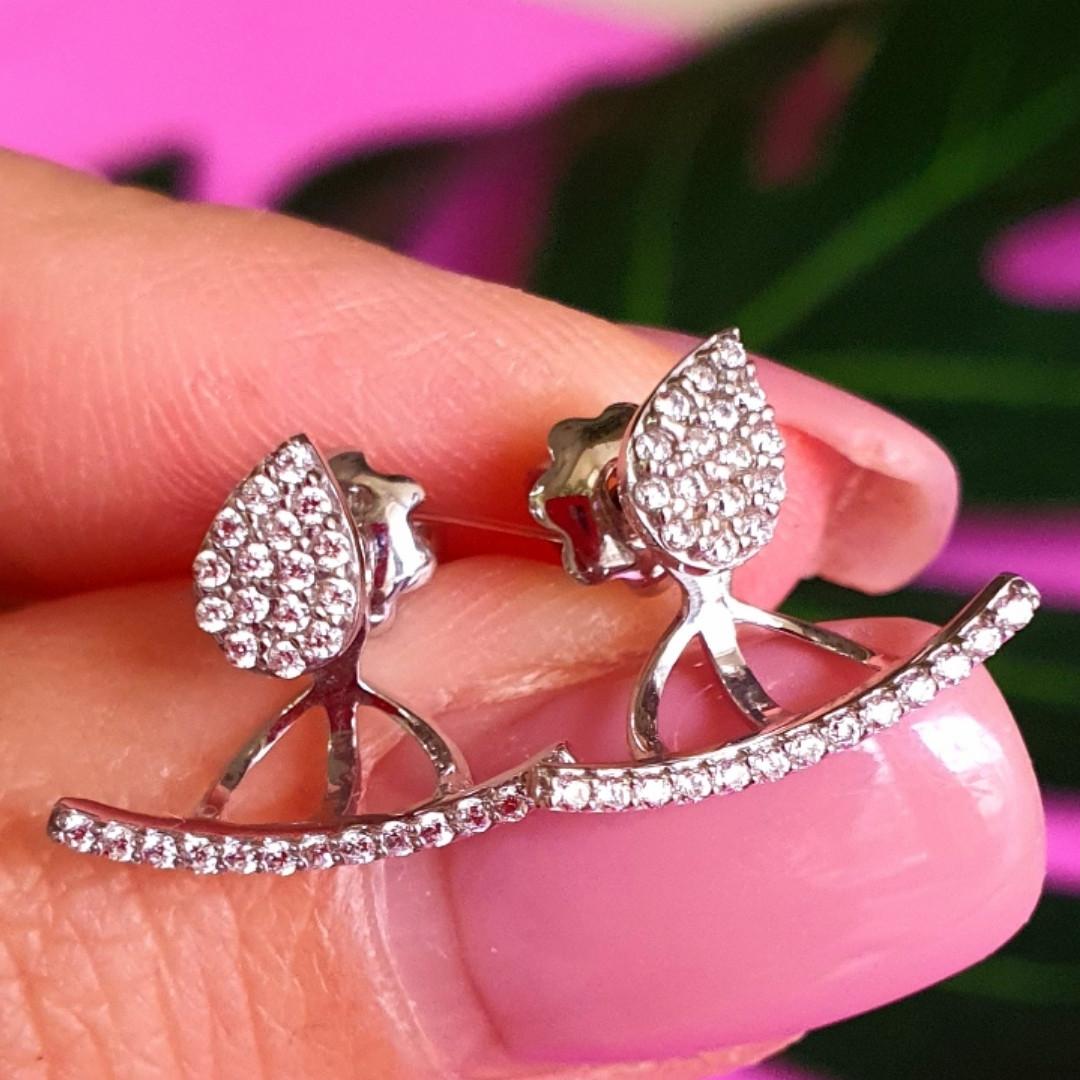 Джекеты серебряные серьги - Серебряные серьги Каффы - Серьги трансформеры