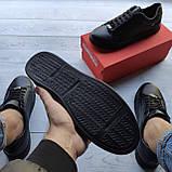 Мужские кеды Philipp Plein OS037 черные, фото 6