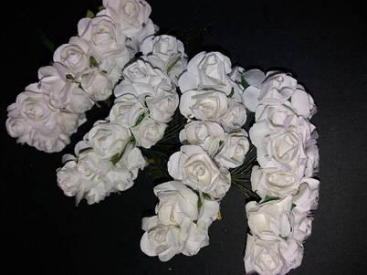 Цветы бумажные на проволоке