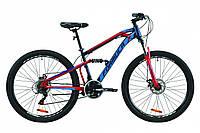 """Велосипед 27.5"""" Formula BLAZE 2020 (синий с красным)"""
