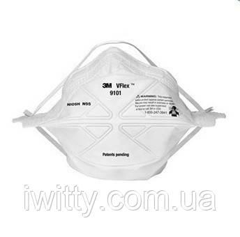 Маска медична для особи Спецмедпошив 3M 9101 (25 МАСОК)