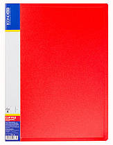 Папка пластиковая A4 с пружинным механизмом Economix CLIP А,красная  E31201-03