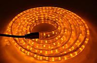 ЖЕЛТАЯ  Светодиодная лента в силиконе 3 метра с мощными LED лампочками 12 / 24 вольт (KL-3010-3M.Y)