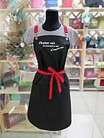 Фартух майстра манікюру червоні бретелі, фото 2