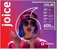 """Стартовый Пакет Vodafone """"Joice"""" месячный пакет включен 4G"""