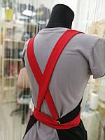 Фартух майстра манікюру червоні бретелі, фото 3