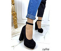 Женские туфли  на платформе с ремешком