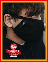 Многоразовая тканевая защитная маска Staff black