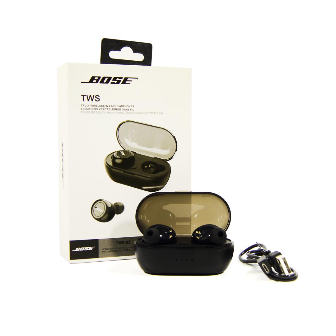 Беспроводные Bluetooth наушники BOSE TWS 02 Wireless  черные (Bluetooth наушники BOSE TWS )