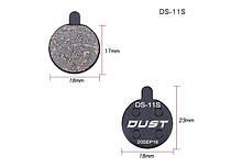 Колодки тормозные полуметалл disc DUST DS-11S Alhonga, ZOOM DB250/350/450/550