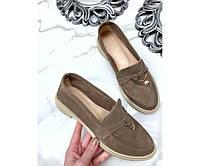 Женские туфли  лоферы с украшением