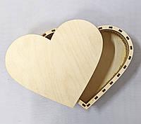 Шкатулка сердце для декупажа 23*19см, фото 1