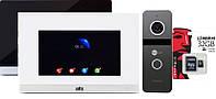 Комплект FullHD домофона ATIS AD-750FHD S-Black - сенсорный экран, детекция