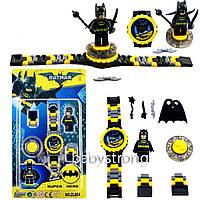 Детские наручные часы конструктор Бетмен + фигурка лего любимого героя Отличный Подарок !