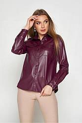 Женская рубашка из Эко кожи, в расцветках, р.S,М,L,XL,2XL