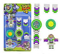 Детские наручные часы конструктор Той Стори Toy Story Базз Лайтер + фигурка лего любимого героя
