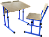 Парта 2 антисколиозная и школьный стул, фото 7