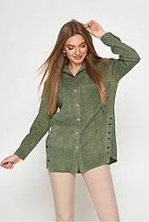 Женская вельветовая рубашка с капюшоном, в расцветках, р.S,М,L,XL,2XL