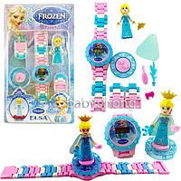 Детские наручные часы конструктор Холодное Сердце Зльза + фигурка лего любимого героя