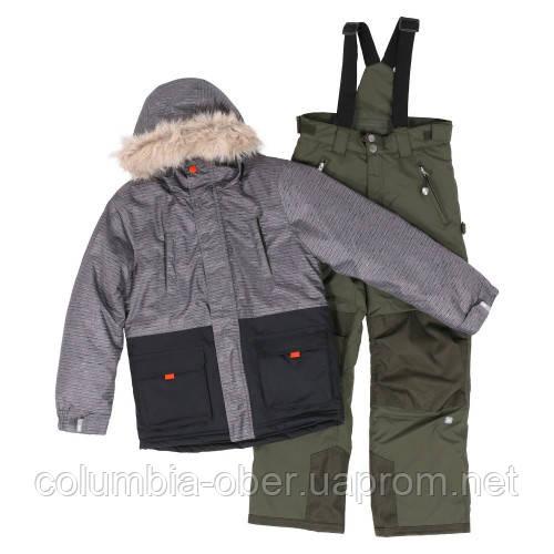 Зимний костюм для мальчика SNO F18M303 Black/Grape Leaf. Размеры 7 - 16 лет.