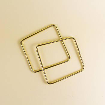 Комплект металлических ручек-трапеций для сумки 11х12,5 см Золото