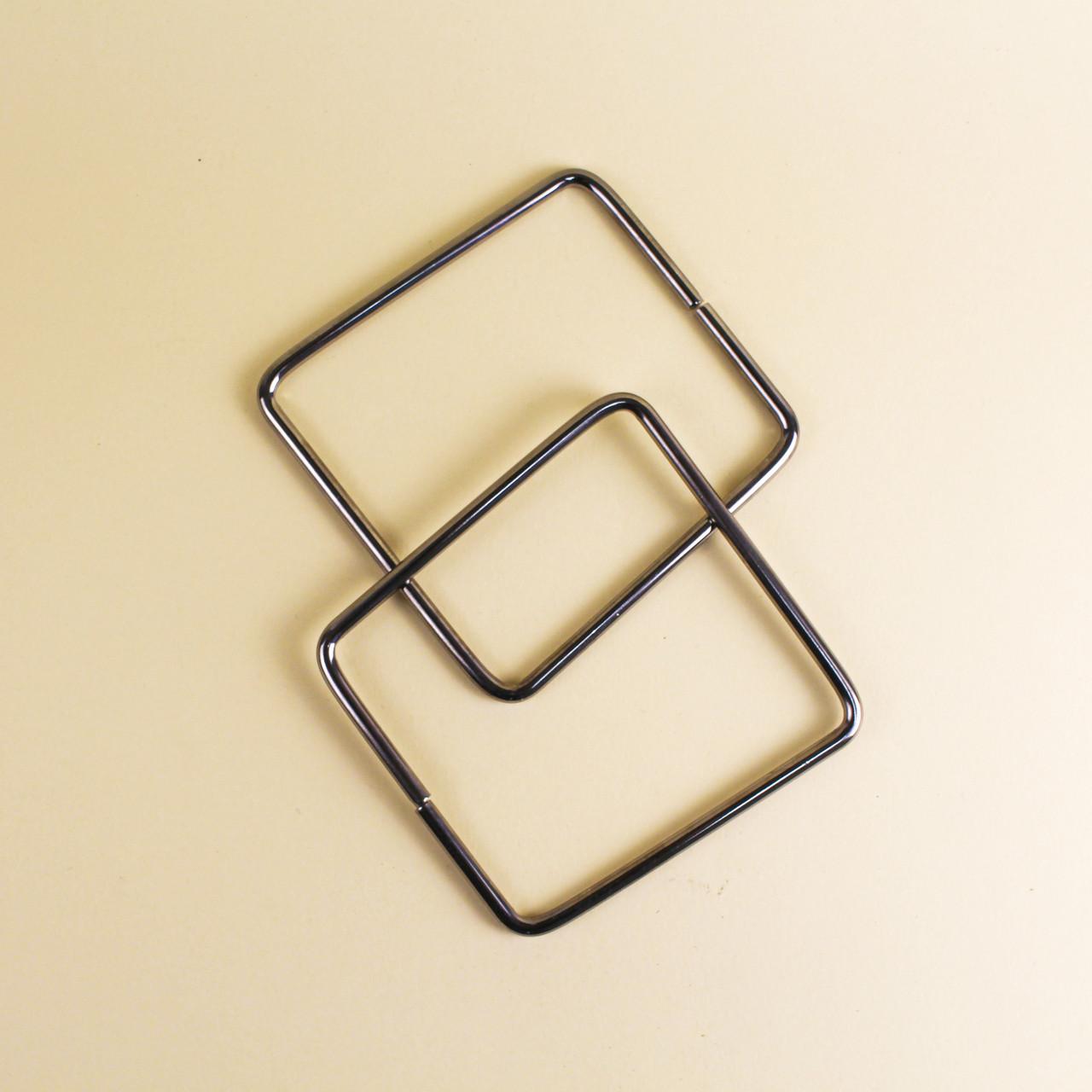 Комплект металлических ручек-трапеций для сумки 11х12,5 см Серебро